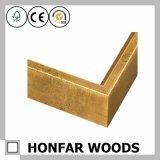 Marco Metal-Like europeo de madera del color del oro