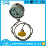 Indicateur de pression de joint de membrane de pétrole de Hydaclic d'acier inoxydable avec le capillaire