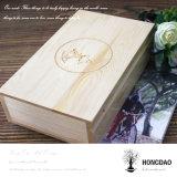 Caixa de madeira feita sob encomenda de Hongdao para fotos e embalagem Wholesale_L do USB