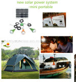 Solar Powered luces LED Luz solar de emergencia Solar Kit con cable USB