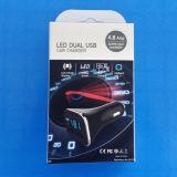 FCC RoHS van Ce van de LEIDENE Lader USB Mobiele 5V/4.8A van de Vertoning Dubbele