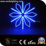 Luzes do motivo do diodo emissor de luz do Natal ao ar livre da decoração do feriado das luzes de pólo da rua 2D