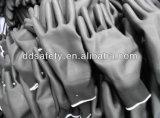 Перчатка PU черноты черного нейлона Ddsafety 2017 Coated