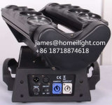 RGBW 4 em 1 LED Stage Moving Head Spider Beam Light com 8 Head 8 * 10W