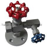 Válvula de agulhas, válvula de calibre de pressão, Medidor de nível de vidro de visão Válvula de galo,