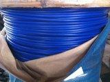 7X7 4-6mm 철강선 밧줄이 입힌 파란 PP에 의하여 직류 전기를 통했다