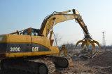 L'escavatore attacca, libro macchina dell'escavatore e gru a benna della pietra, gru a benna dell'escavatore