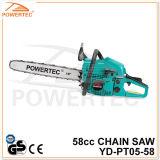 La chaîne en bois d'essence de début facile de GS 58cc de la CE de Powertec a vu (YD-PT05-58)