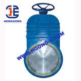 DIN/API 주철강 산업 플랜지 칼 게이트 밸브