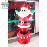 Aufblasbarer im Freien Innenluft Daner Prahler Christams Geschenk-Baum Weihnachtsmann mit LED