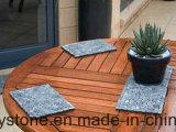 파란 얇은 도와 소형 자갈 모자이크 타일 정원 포장