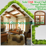 Standard europeu Oak Wood Aluminum Window para House