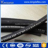 SAE100 R13/R15 Hochdruckdraht-Spirale verstärkter hydraulischer Gummischlauch