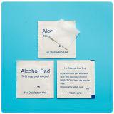 Pista de la preparación del alcohol con alcohol del 70% Ispropyl
