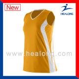 Healong 형식 베스트셀러 승화물 소매 없는 배구 셔츠