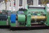 El caucho abre la maquinaria del molino de mezcla de dos rodillos