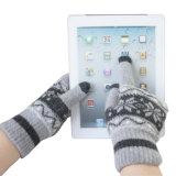 Lana Invierno acrílico de punto guantes de la pantalla táctil de los hombres (YKY5453)