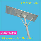 Luz de calle solar integrada accionada solar de la serie el 100% del APP