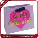 El regalo de la tarjeta del día de San Valentín empaqueta bolsos de la tarjeta del día de San Valentín de la laminación de las bolsas de papel de la tarjeta del día de San Valentín de las compras