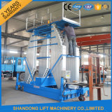 Equipo hidráulico vertical telescópico eléctrico los 6m de poca potencia 100kg de la elevación del hombre