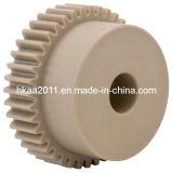 Engranajes de estímulo de la precisión Nylon/POM Delrin, engranaje de estímulo de nylon plástico, engranaje de estímulo plástico de la impresora