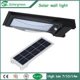 lumière solaire de mur de grande du panneau solaire 7W version intense de batterie