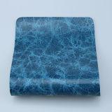 Cuoio sintetico di marmorizzazione lussuoso dell'unità di elaborazione di nuovo disegno per la tappezzeria del sofà (F8002)