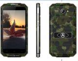 """Цвет черноты телефона Падени-Доказательства Анти--Пыли OS Android 5.1 ROM RAM 512MB 8GB V6+ 4800mAh 5.0 """" франтовской"""
