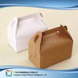 Rectángulo de empaquetado plegable ambiental del papel de Kraft para la torta del alimento (xc-fbk-044b)