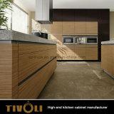 Мебель шкафов хранения кухни черной картины Matt деревянная (AP002)