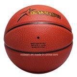 Bola de baloncesto de cuero genuina de encargo de la PU en Bulk