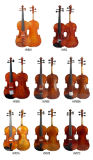 4/4 de violino avançado com curva de violino da caixa do violino