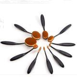 中国の製造者10PCSの美のための黒い楕円形の装飾的なブラシセット