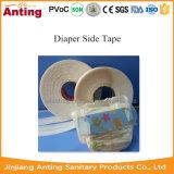 おむつのトレーニングの動悸のための赤ん坊のおむつの原料の側面テープ