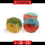 As microplaquetas impressas costume do projeto/póquer da coroa que bronzeiam o casino lascam Ym-Cp016/Cp017