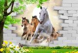 3Dホーム装飾のための連続した馬のデジタルによって印刷される油絵