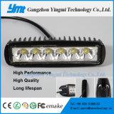 6 LED 18W 차량 몰기 지프를 위한 작동 램프 반점 빛