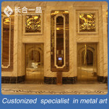 KTV/Hotelのためのカスタマイズされた品質の金属の鋼鉄ローズの最もよい金の鋼鉄ドア