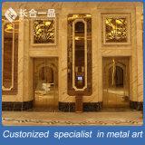 Подгонянная дверь самого лучшего золота Rose качества стальная для KTV/Hotel