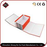 Rectángulo de joyería plegable de sellado caliente del color de papel del rectángulo