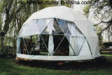 Farbloses kuppelförmiges Zelt-halber Bereich-Geodäsiezelt für Verkauf