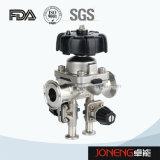Manual de acero inoxidable Sanitaria Tipo Válvula de diafragma con drenaje (JN-DV1004)