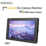 """7 """" écran LCD du support 4K de sur-Appareil-photo"""