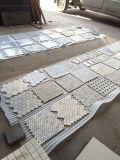 Mixed di pietra incluso di Emperador con le mattonelle di mosaico di marmo di Crema Marfil