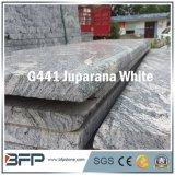 건축재료 시골풍 정맥 화강암 돌 대리석 지면 도와 Juparana 백색