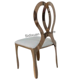 Moderner Entwurfs-Hotel-Rosen-Goldmetallmöbel-Bankett-Stuhl mit PU-Kissen