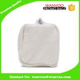 Malote cosmético da composição do retângulo do saco da lona em branco de creme feita sob encomenda