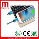 Cavo del USB del lampo, alta velocità Braided del nylon supplementare 10FT di 3FT 6FT--Il nero con l'azzurro