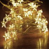 Luz feericamente do festival da luz da corda da decoração do Natal do diodo emissor de luz