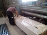 電流を通された波形鉄板の屋根ふきの金属板/亜鉛上塗を施してある鋼板